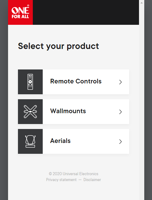 New Product Selector